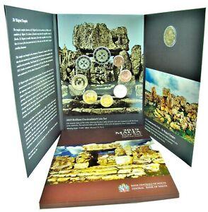 Malta-1-Cent-bis-2-Euro-2019-Ta-Hagrat-Tempel-KMS-mit-Muenzzeichen-F-im-Folder
