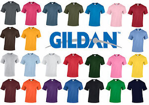 New-Plain-Blank-Gildan-G5000-100-Heavy-Cotton-T-shirt-24-Colours