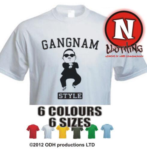 GANGNAM STYLE PSY college Uni Korean dance music party t-shirt