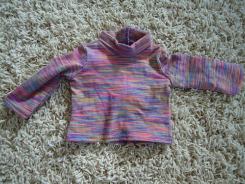 """American Girl 18/"""" Doll Julie Retired Meet Outfit Striped Turtleneck Shirt ONLY"""