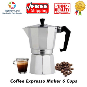Percolator Stove-top Italico Espresso Coffee Maker 3/6/9 Cups Pots Aluminum Gift