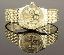 Reloj De Mujer Oro Strass Cristales Pulsera Análogo Regalo : U1673