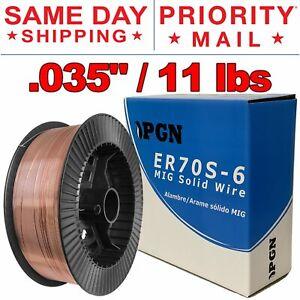 "2-pk 11-lb ER70S-6 MIG Welding Wire .035/"" 0.9mm Fast Ship 2 Rolls"