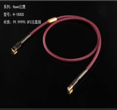 HIFI 6NOCC Single crystal copper audio line A-B DAC 3//5//9.8FT Cable Professional