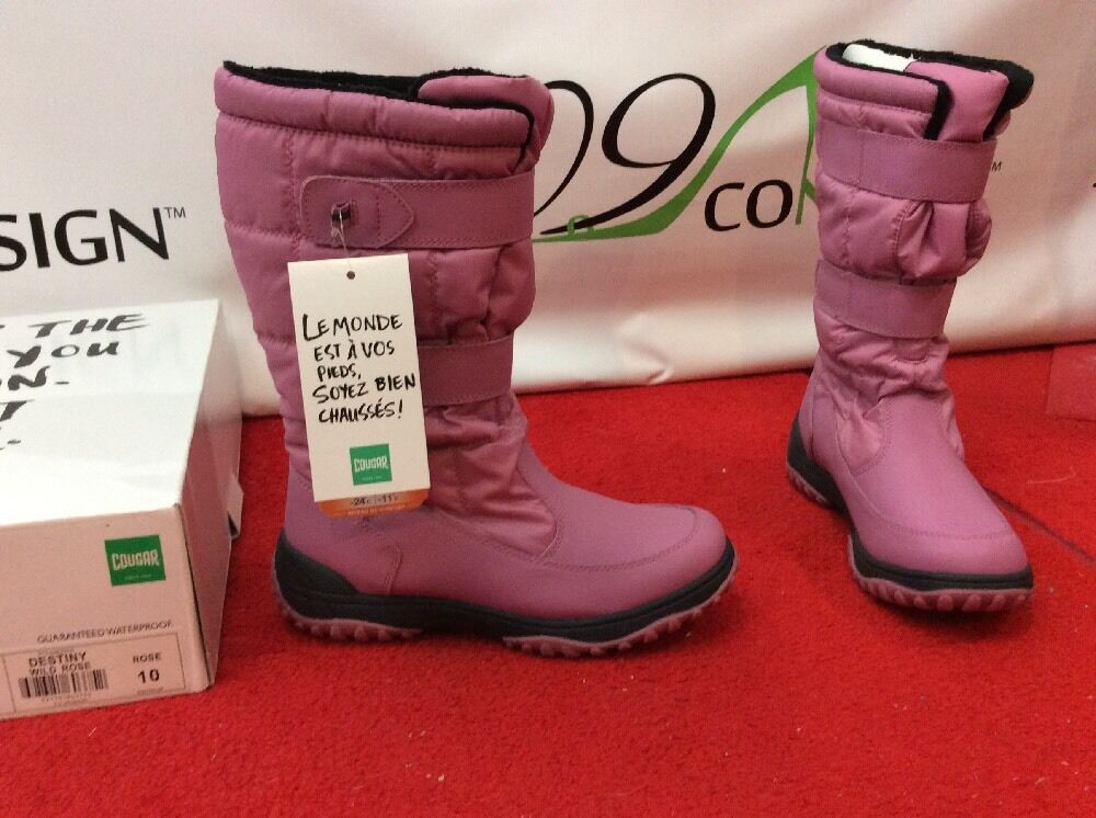New Damenschuhe Cougar Destiny Canadian Damenschuhe New 10 Pink Waterproof Winter Snow Rain Stiefel 691c10