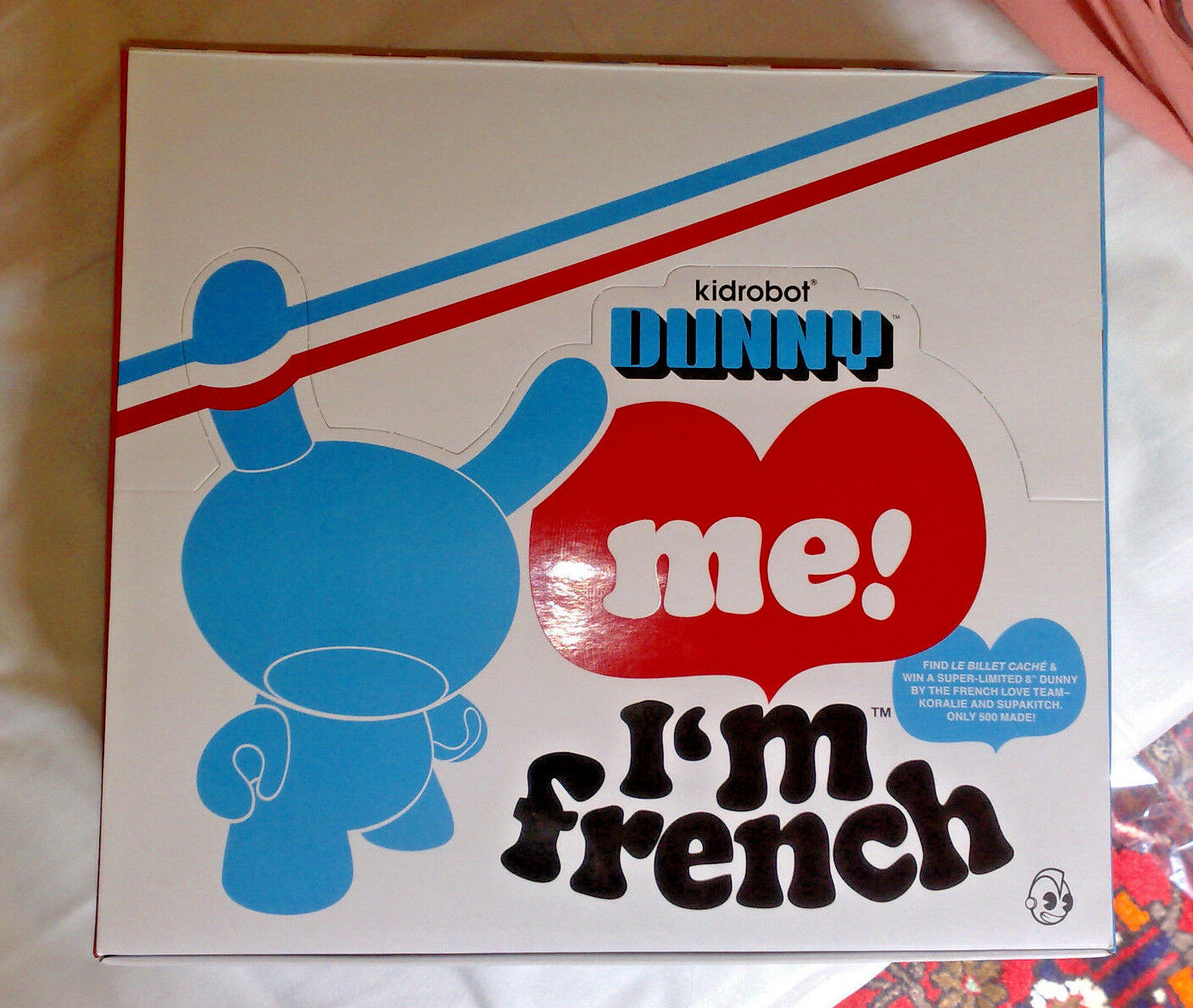 KIDROBOT DUNNY 3  I'M FRENCH Series SEALED SEALED SEALED CASE 25 blind boxes -Mc Bess b3befd