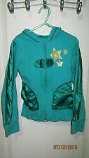 Youth Girls Small 7 Disney's High School Musical Green Full Zip Hoodie Jacket