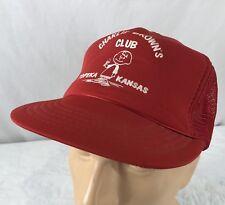 item 7 Vtg Charlie Brown Club Hat Snapback Trucker Cap Topeka Kansas Bar  Nightclub Red -Vtg Charlie Brown Club Hat Snapback Trucker Cap Topeka  Kansas Bar ... 7a3da5df9fee