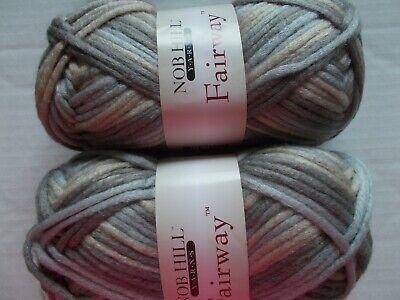 120 yds ea lot of 2 Terrain Nob Hill Fairway fashion yarn