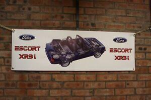 Ford-Escort-xr3i-mk3-Cabriolet-grosse-PVC-Banner-Garage-Workshop-Banner