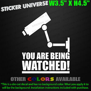 YOU-ARE-BEING-WATCHED-Security-Camera-Surveillance-Decal-Sticker-Deterrent-0011