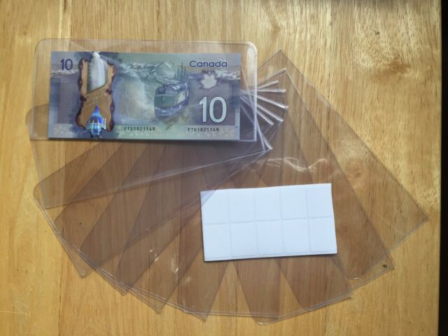 NEW UNITRADE ACETATE CURRENCY SLEEVES FOR BANK NOTES PACKAGE OF 10 HOLDERS