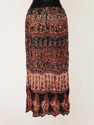 Knitter Rock lang Haremsrock Kleid Knit  Hippie Knitter Look Faltenrock 2 Farben