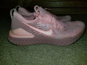 Women's Nike Epic React Flyknit 2 Rust Pink Running Shoes BQ8927-600 Size 8