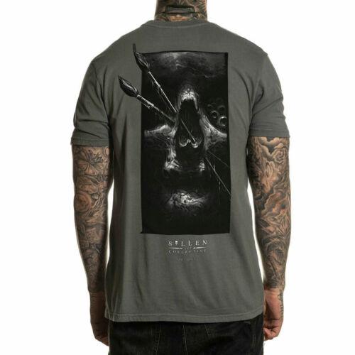 Sullen Men/'s Dist Short Sleeve T Shirt Charcoal Gray Clothing Apparel Tattooe...