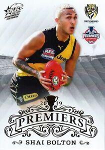 New-2019-RICHMOND-TIGERS-AFL-Premiers-Card-SHAI-BOLTON-19-of-25