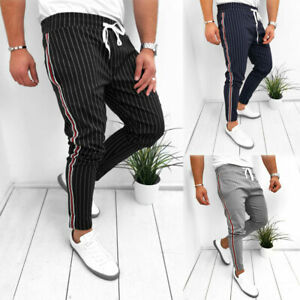 Mens-Slim-Fit-Tracksuit-Sport-Gym-Skinny-Jogging-Joggers-Sweat-Pants-Trousers