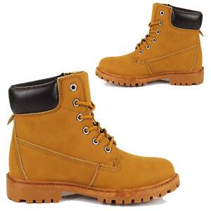 b56441106a86ac Rangers Homme Femme Bottes Lacé Chaussures Cuir Écologique Bottes ...