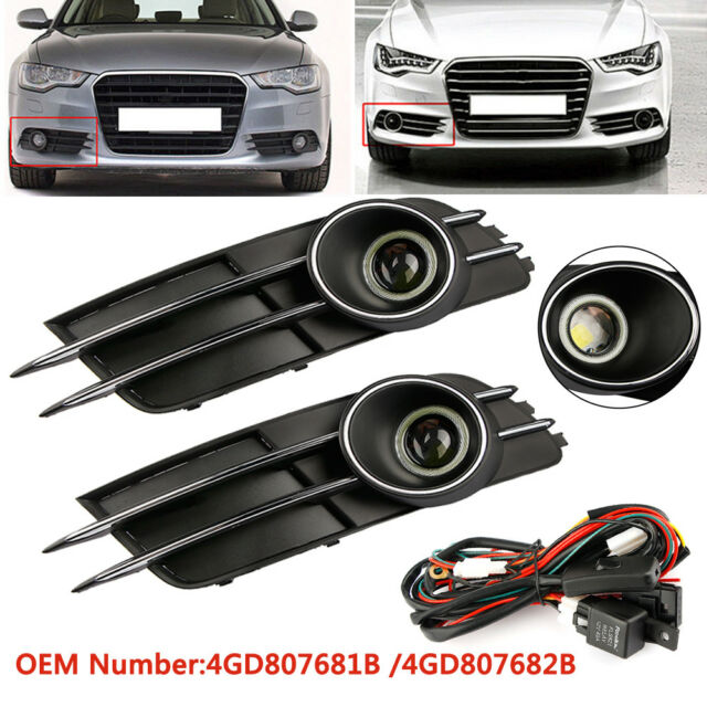 Fog Lamps Grille  Fog Light   Wiring Harness For Audi A6 C7 4gd807681b 2011