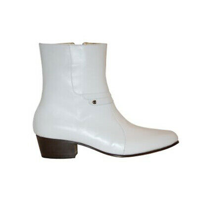 Luciano White Boots for Mens Elvis Costumes-100/% Leather