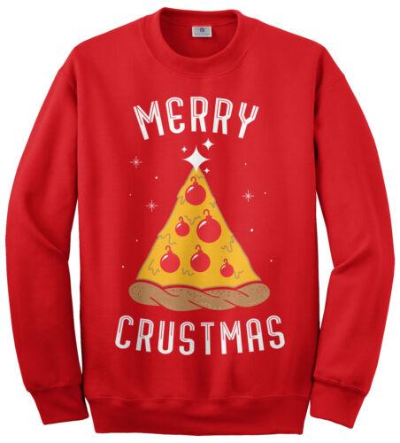Merry Crustmas Pizza Unisex Sweatshirt Funny Christmas Gift