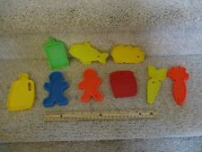 Mattel '72 plastic pretend play food carrot fish cookie bread milk celery flat