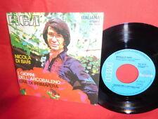 NICOLA DI BARI I giorni dell'arcobaleno 45rpm 7' + PS 1972 ITALY MINT