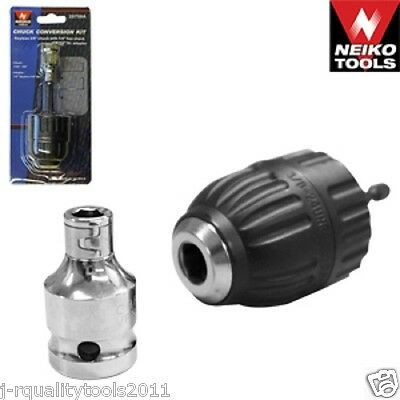"""1//2/"""" Drive To 1//4/"""" Hex Drill Chuck Converter Socket Adapter For Impact Wrench J"""