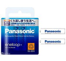 2 Panasonic Eneloop 750 mAh AAA Batteries 2100 Times Rechargeable NiHM Batteries