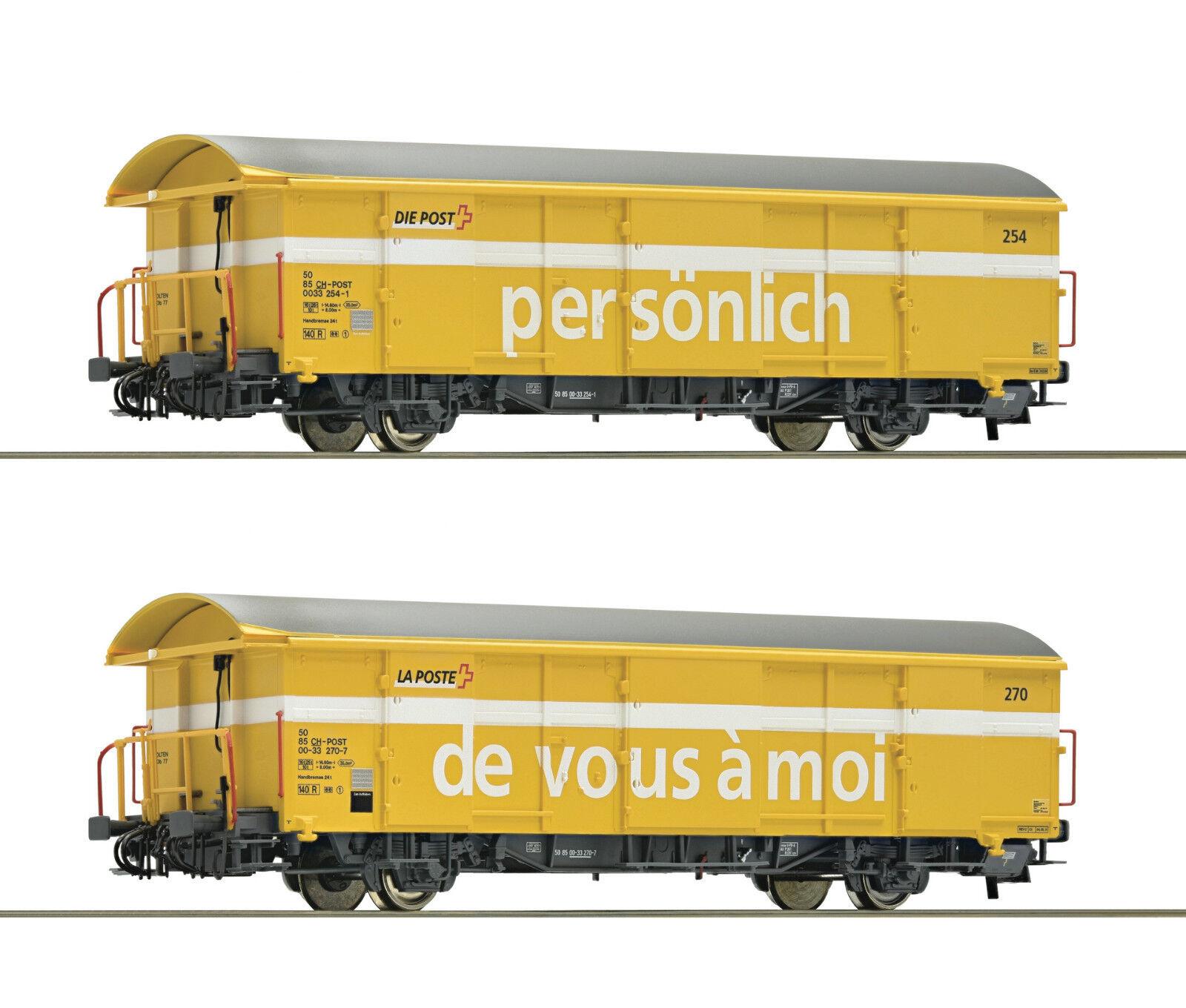 Roco 67183 set 2 carro postal SBB PE 5-6 a petición achstausch para Märklin gratis