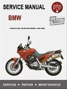 Best Bmw F650 Cs 1994 1995 1996 1997 Service Repair Manual Cd Dvd Set Ebay