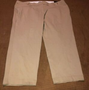 Lane-Bryant-Women-s-Size-28R-The-Allie-Beige-Stretch-Pants-New