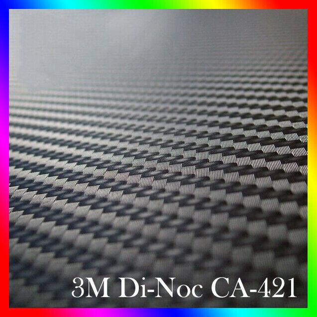 3M Original Di-Noc CA421 Vinilo negro de fibra de carbono 122 x 50 cm Carbon 3D