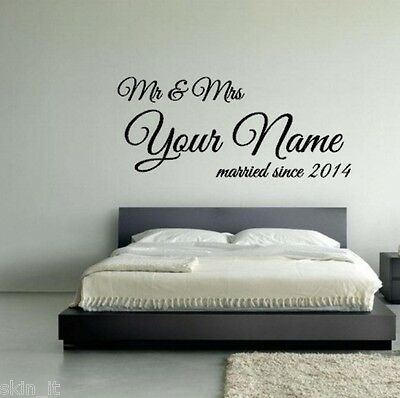 MR /&  MRS BEST FRIENDS FOR LIFE WALL STICKER QUOTE BEDROOM WALL ART DECAL X196