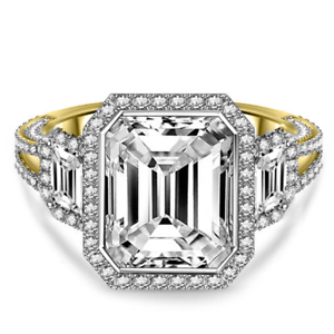 14K Yellow gold Anniversary Rings 4.50 Ct Diamond Engagement Ring Size 5.5 6 7 9