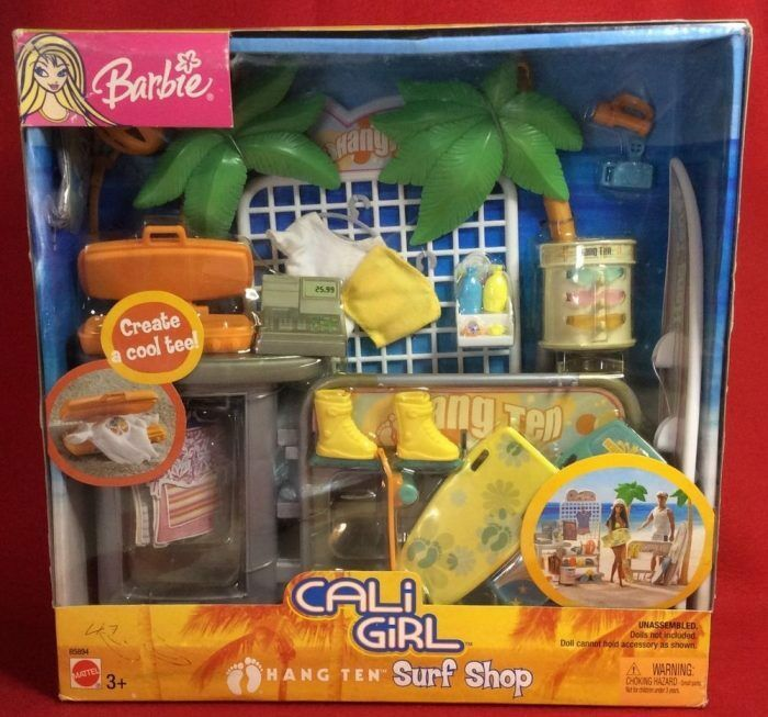 Barbie California Girl Surf Shop B5894 Mattel año 2003