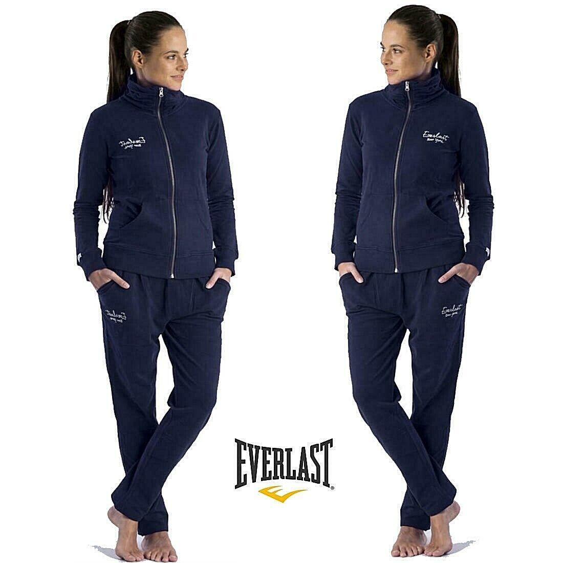 TUTA DONNA SPORT completo EVERLAST sportivo giacca zip