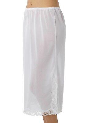 Marlon Half Slip Ladies Waist Slip Petticoat Underskirt 29 Inch Long Lace Trim