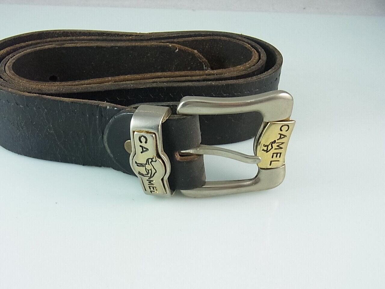 Camel Leather Belt 38 mm Vintage Leather Belt