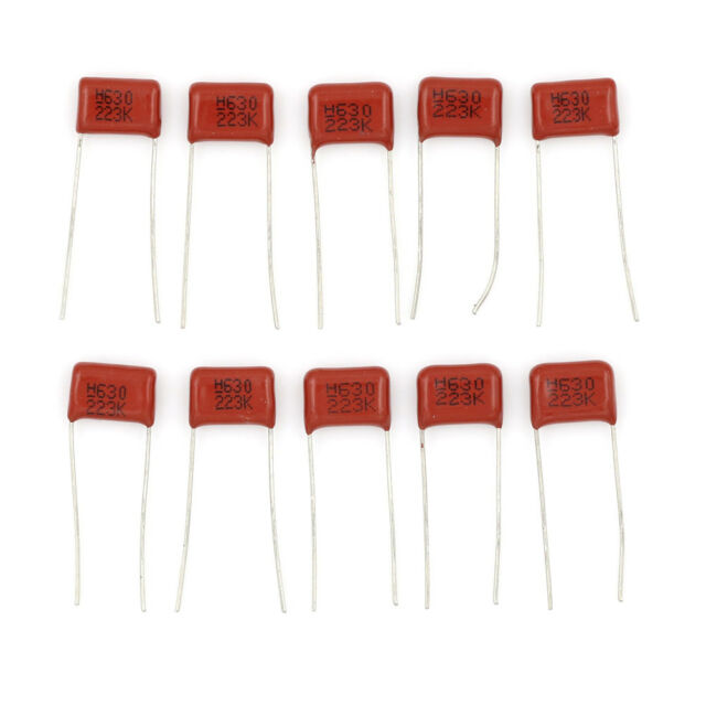 10Pcs 630V 22nf 0.022uf Radial Metallized Polypropylene Film Capacitor TB
