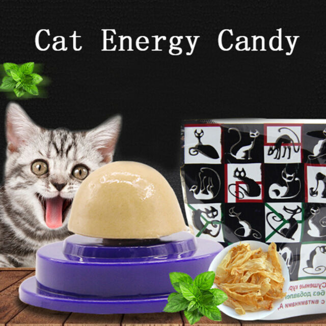 Cat Snacks Catnip Sugar Candy Licking Solid Nutrition Energy Ball Toy Healthy