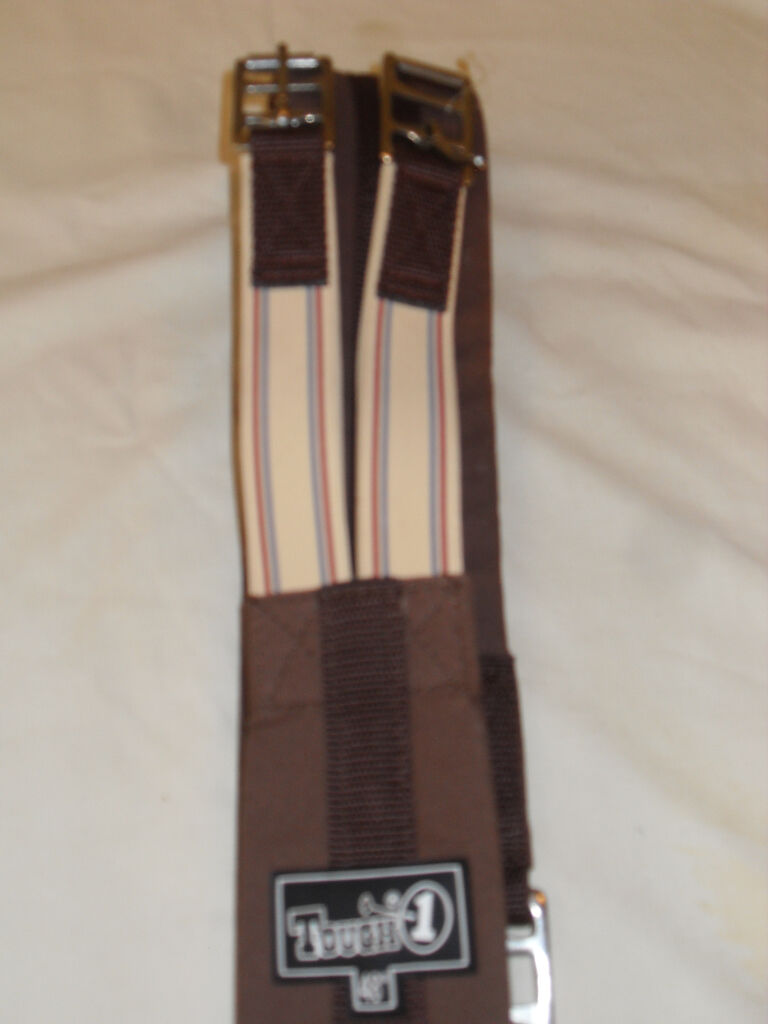 NEW TOUGH 1 ENGLISH FABRIC GIRTH DOUBLE ELASTIC END SIZE 46  BROWN COLOR BY JTI