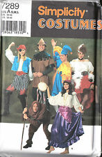 S 7289 Pirate Girl,Gypsy,Jester,Robin Hood,CanCan Girl,Hunchback Costume Pattern