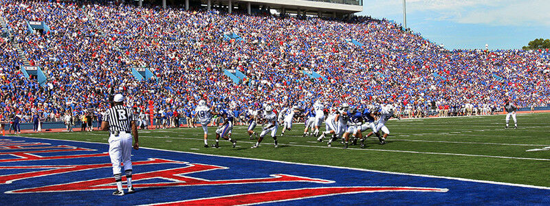 Texas Longhorns at Kansas Jayhawks Football
