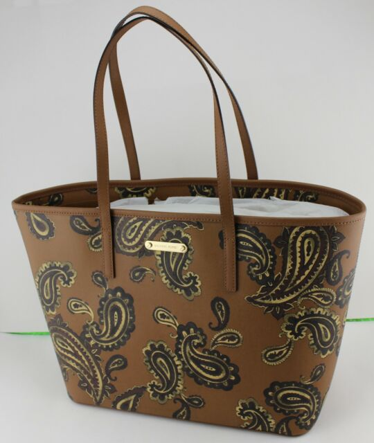 f79da195b15142 Michael Kors Emry Luggage Brown Large TZ Tote Purse Paisley 38h7xe4t3t. +.  $94.99Brand New