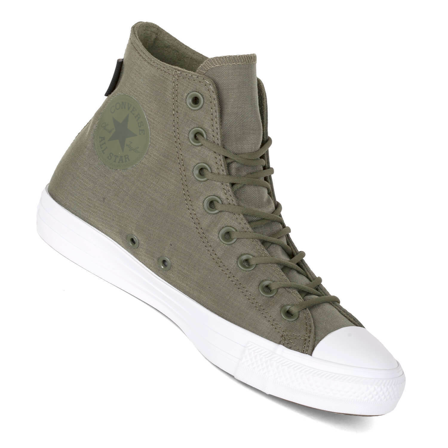 CONVERSE CHUCK TAYLOR ALL STAR HI CANVAS Homme Chaussures OLIVE 157518C Taille 11 NEW