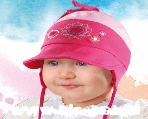 Mädchen Schirmmütze Baby Mütze Hut 0,6-1,5 Jahre 7-Farben Baumwolle NEU R2//36