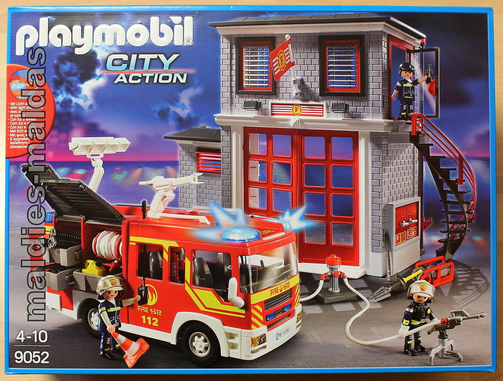 PLAYMOBIL 9052 City Action vigili del fuoco auto Mega Set Nuovo/Scatola Originale