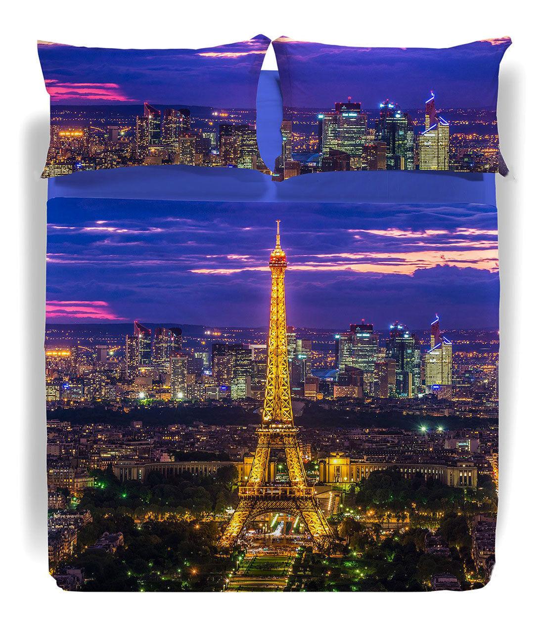 Completo Lenzuola Copriletto Matrimoniale Parigi La Tour Paris Digitale Caleffi