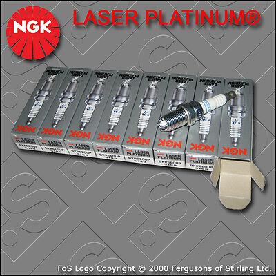 NGK LASER PLATINUM SPARK PLUG SET BKR6EQUP x 8 STOCK NO. 3199 BMW